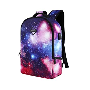 3fee612764f1 Amazon.com: BOYANN USB Charging Galaxy School Backpack Rucksack ...