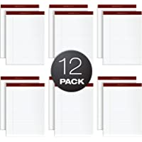 TOPS Docket Gold Writing Pads, 8-1/2 x 11-3/4, Legal Rule, White Paper, 50 Sheets, 12 Pack (63960)
