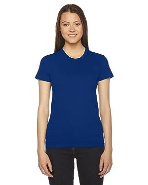 American Apparel Women's Fine Jersey Short Sleeve T-Shirt-Lapis
