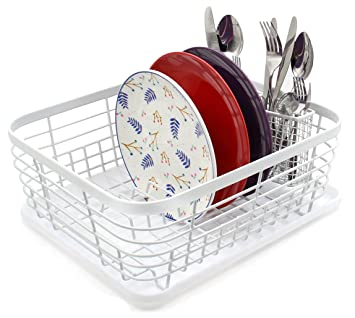 Amazon.com: ESYLIFE Kitchen Dish Drainer Drying Rack with Drip ...