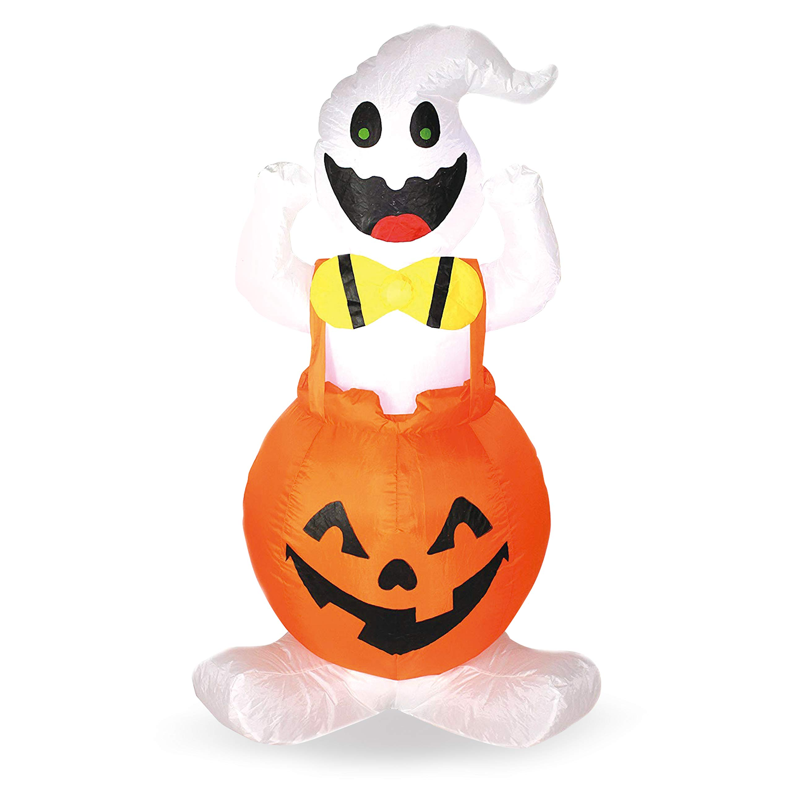 Joiedomi Halloween Blow-up Inflatable Ghost in Pumpkin Overall for Halloween Outdoor Yard Decoration (4 Foot Tall)