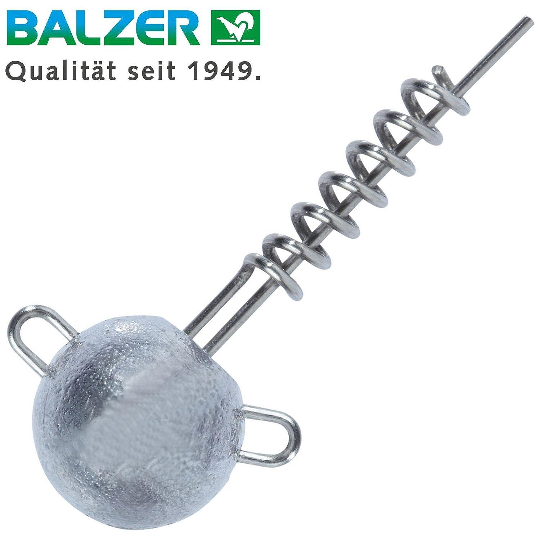 Balzer Shirasu Screw Jig - Schraub Jigköpfe für Gummifische, Schraubköpfe für Gummiköder & Jigs, Bleiköpfe für Softbaits, Spiralköpfe Spiralköpfe