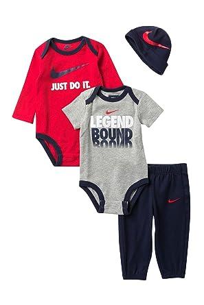 ebb129fd3710d Amazon.com: NIKE Jordan Baby Boys' Jumpman 4 Piece Bodysuits, Jacket ...