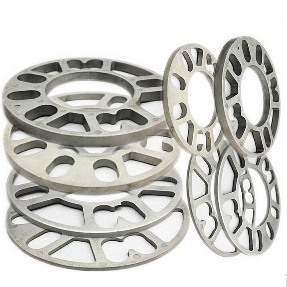 Separador Ruedas del Vehí culo, 4 piezas de aleació n de aluminio 4 y 5 lengü etas 3 / 5 / 8 / 10 / 12 mm de grosor universal Separadores de ruedas DiiZii