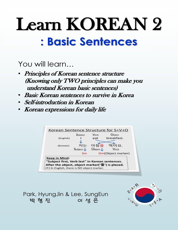 learn korean 2 basic sentences principles of korean sentence