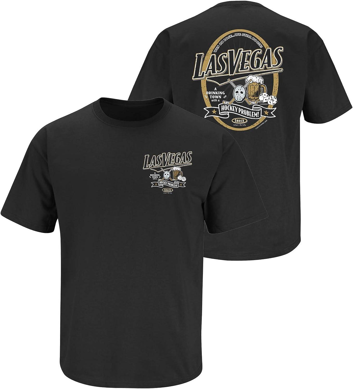 Black T-Shirt A Drinking Town with A Hockey Problem Sm-5X Vegas Hockey Fans