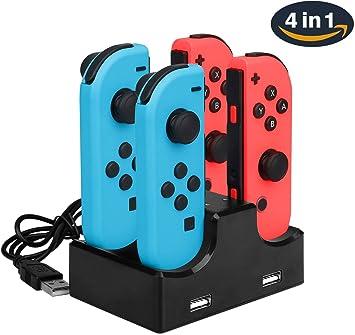 Nintendo Switch Base de Carga Joy-Con 4 en 1 Soporte de ...