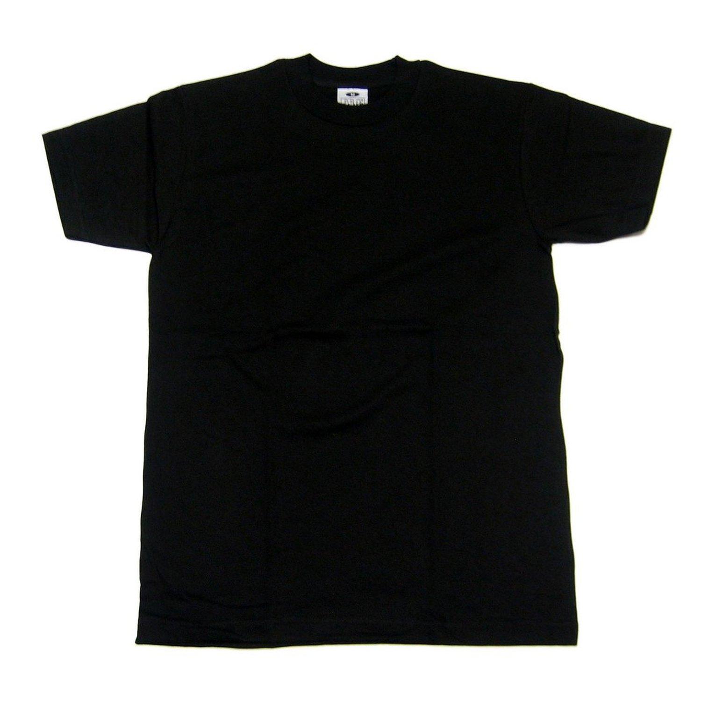 Black t shirt amazon - Pro Club Heavyweight Crew Neck T Shirt Black 3pack