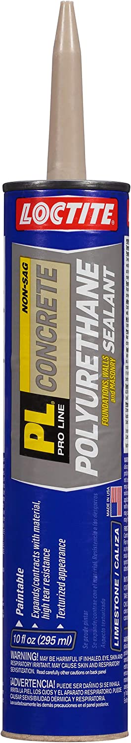 Loctite 1618522-12 PL S10 Polyurethane Concrete Crack and Masonry Sealant, 10 Ounce Cartridges, Case of 12, Gray