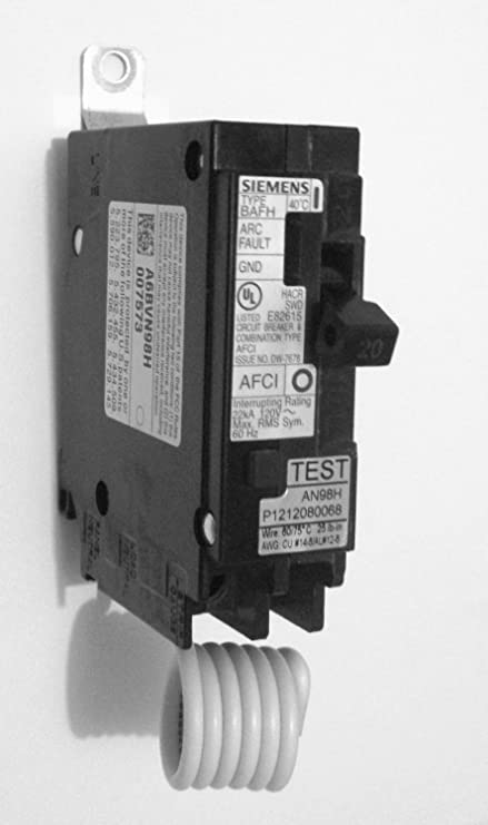 SIEMENS b120afch bolt on 20 amp combination arc fault afi afci ...