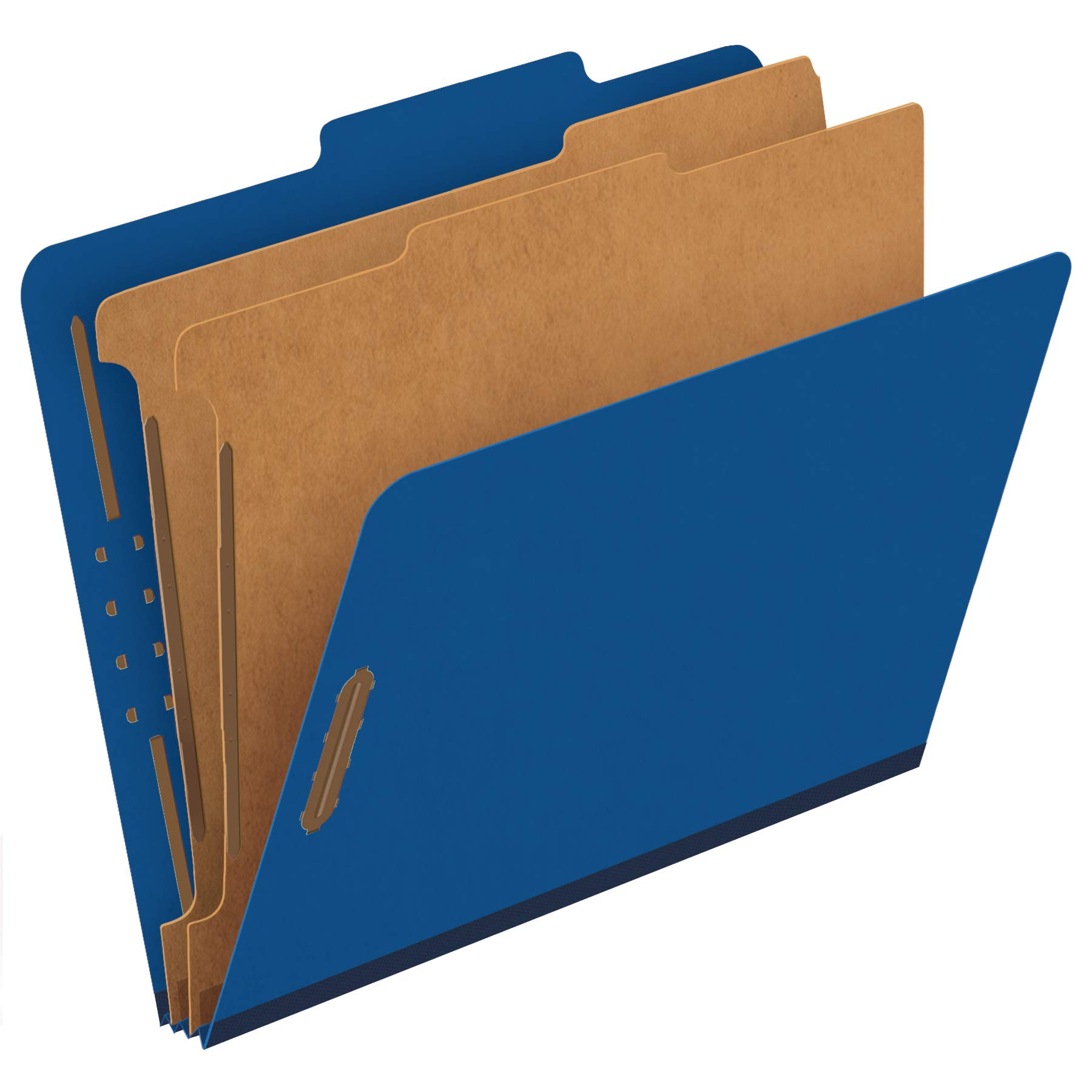Pendaflex Classification Folders, 2 Dividers, 2'' Fasteners, Letter, Dark Blue, 10/Box (24132P) by Pendaflex