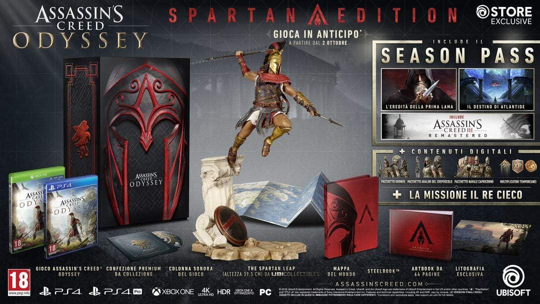 Assassins Creed Odyssey - Spartan Edition: Amazon.es: Videojuegos