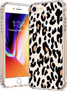 BICOL iPhone SE2 Case 2020,iPhone 7 Case,iPhone 8 Case Clear with Design for Girls Women,Transparent Protective Phone Case Cover for Apple iPhone 8/iPhone 7/iPhone SE2 Leopard Patterns