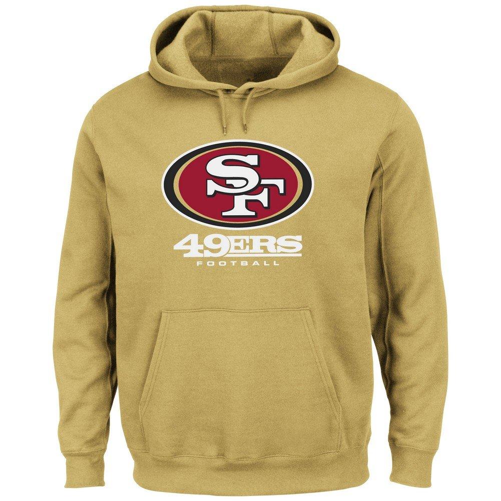 San Francisco 49ers Critical Victory VIIIゴールド長袖フード付きスウェットシャツ Small Gold B00OC1IT7E