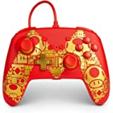 PowerA Enhanced Wired Controller for Nintendo Switch - Golden M, Gamepad, Wired Video Game Controller, Gaming Controller - Ni