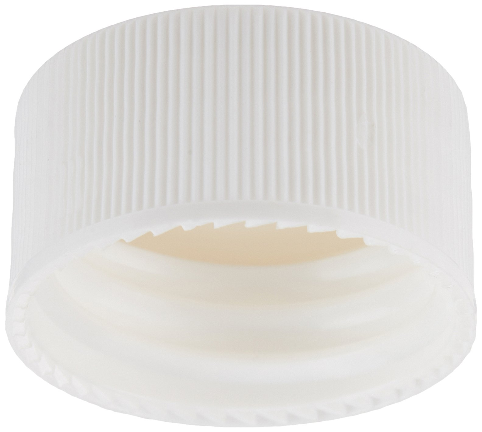 JG Finneran 34-527/144 Polypropylene Open Hole Closure with Fixed 0.125'' PTFE/Silicone Liner for Environmental VOA Vials, 24-414mm Cap Size, White (Pack of 144)