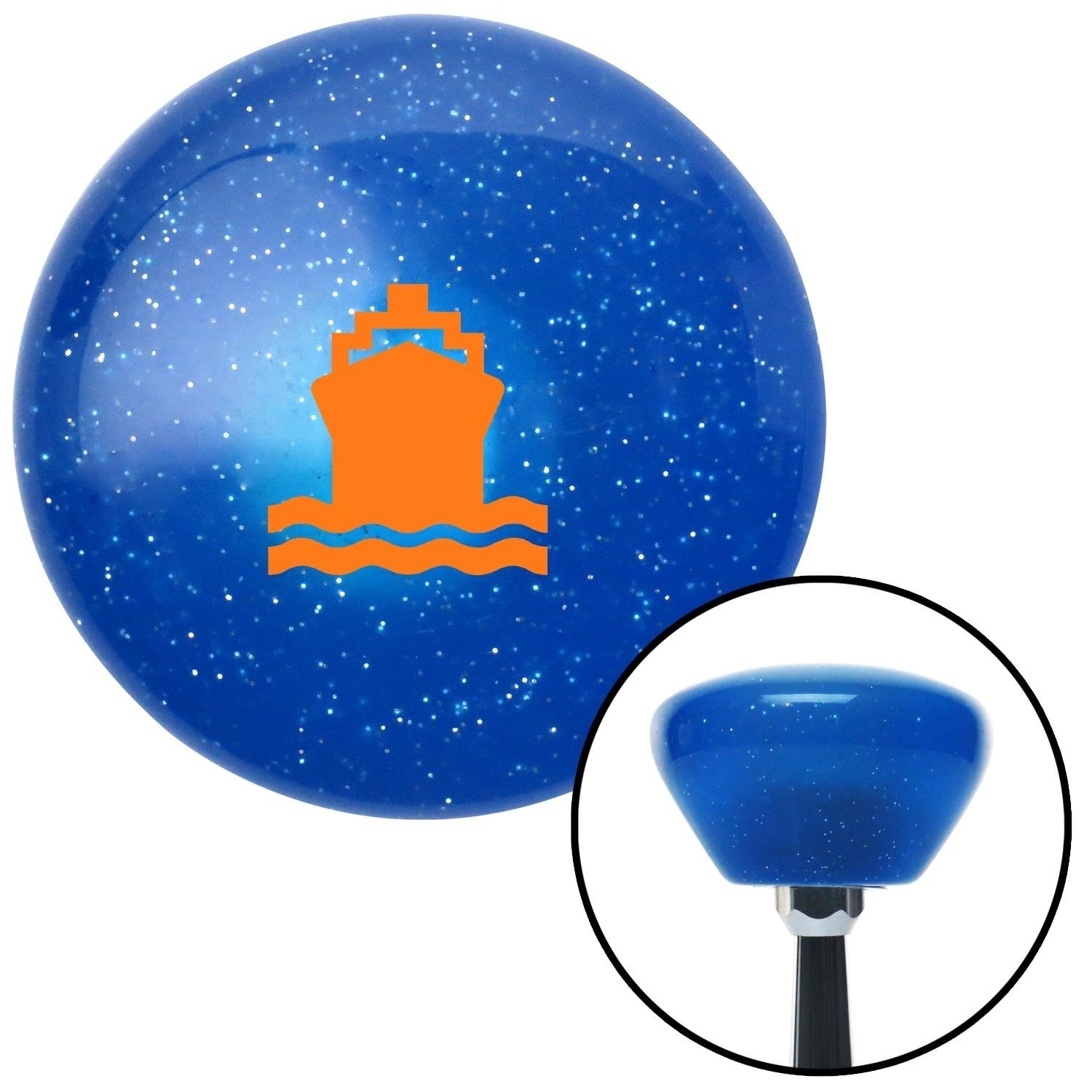 Orange Boat American Shifter 190680 Blue Retro Metal Flake Shift Knob with M16 x 1.5 Insert