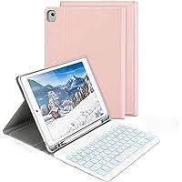 """Jelly Comb Funda con Teclado Español para iPad 10.2"""" 2019 y 2020/ iPad Air 3 10.5""""/iPad Pro 10.5"""", Teclado Desmontable 7…"""