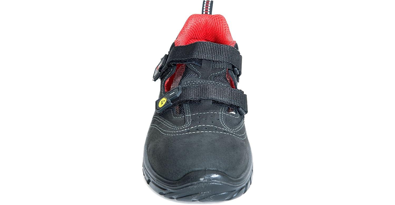 U Power Sicherheits-Sandale ANDREE - S1P - ESD SRC - antistatisch - S1P UK30416 - schwarz/rot Schwarz / Rot 7fa413