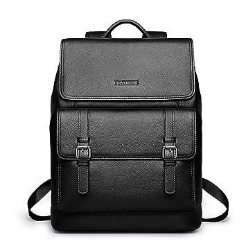 929397c44f9d Padieoe Men Big Shoulder Bag Genuine Leather Backpack Simple Fashion   Amazon.co.uk  Luggage
