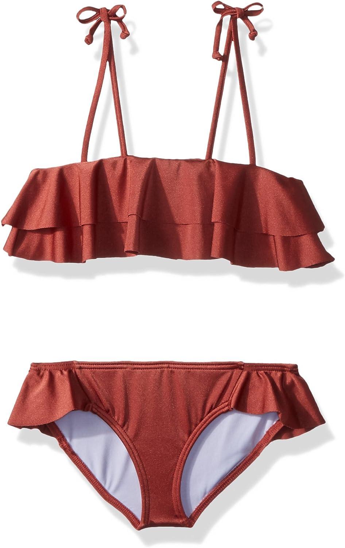 Billabong Girls Shine Ruffle Two Piece Swim Set