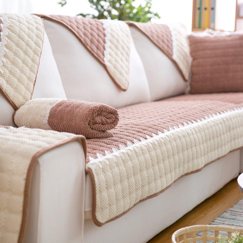 Amazon.com: Thickening Short plush Sofa slipcover,Nesting ...