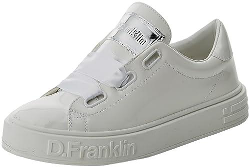 D. Franklin Basket, Zapatillas Altas para Mujer, Blanco, 37 EU: Amazon.es: Zapatos y complementos