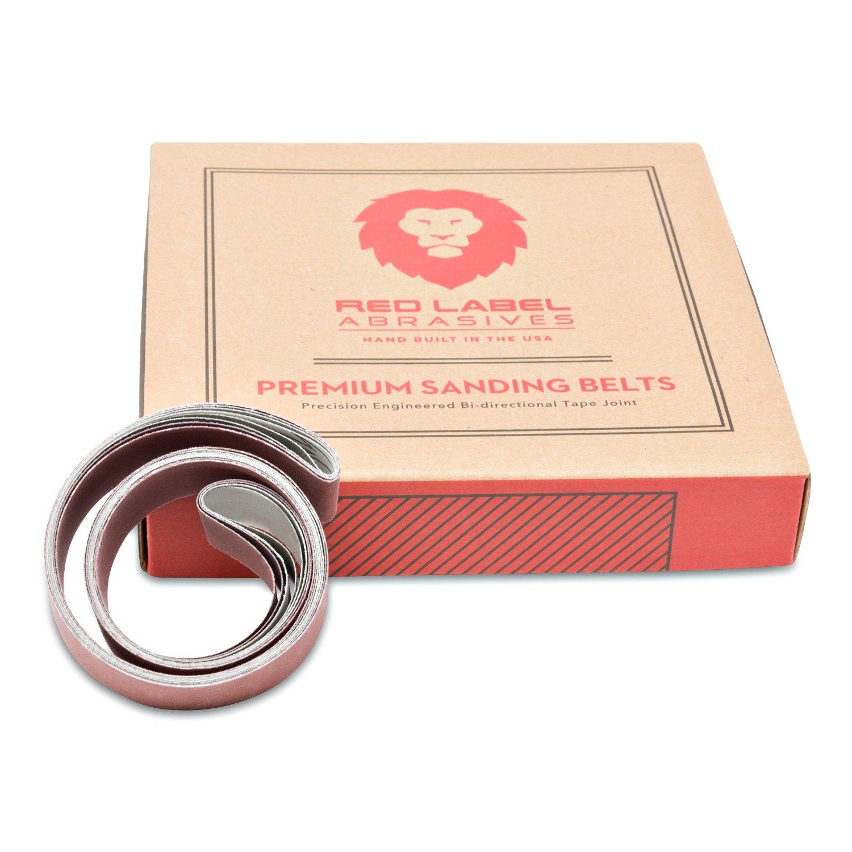 1 x 30 Inch Knife Sharpening Sanding Belts - 1000, 1200, 1500, 5000 Grits - 4 Pack Assortment