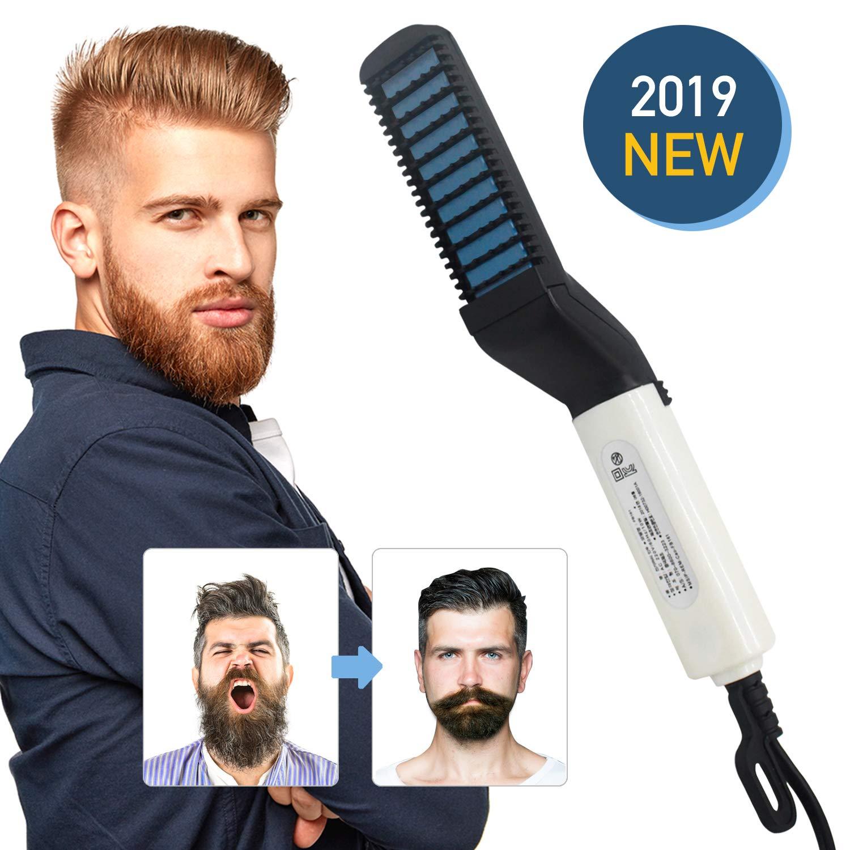 Beard Straightener Brush, Electric Beard Straightener and Hair Straightener, Multifunctional Beard and Hair Straightening Brush Comb, Best Heat Beard Straightener and Hair Straightener Brush for Gift