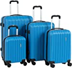 Murtisol ABS Hardside Luggage Sets With Spinner Dual Wheels,French Blue,4-Piece Set(16/20/24/28)