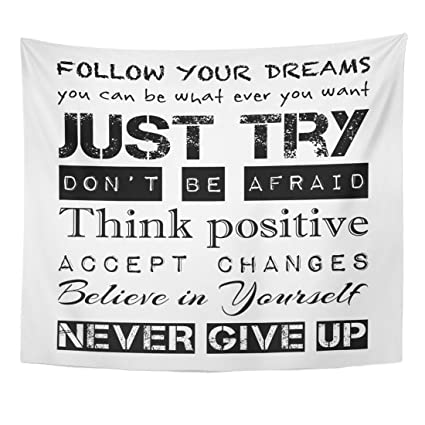 amazon com emvency tapestry inspirational motivational quotes