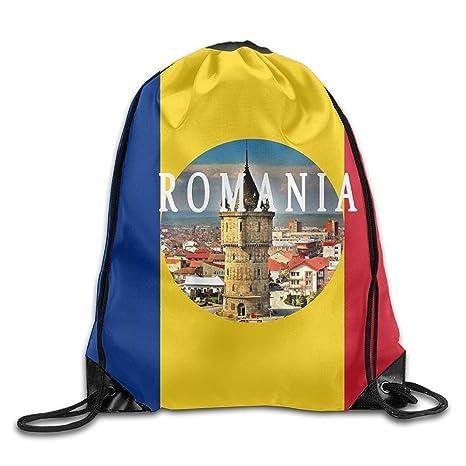 Daisylove Bandera de Rumanía Personalizada Gimnasio con cordón Bolsas de Viaje Mochila Tote Mochila Escolar
