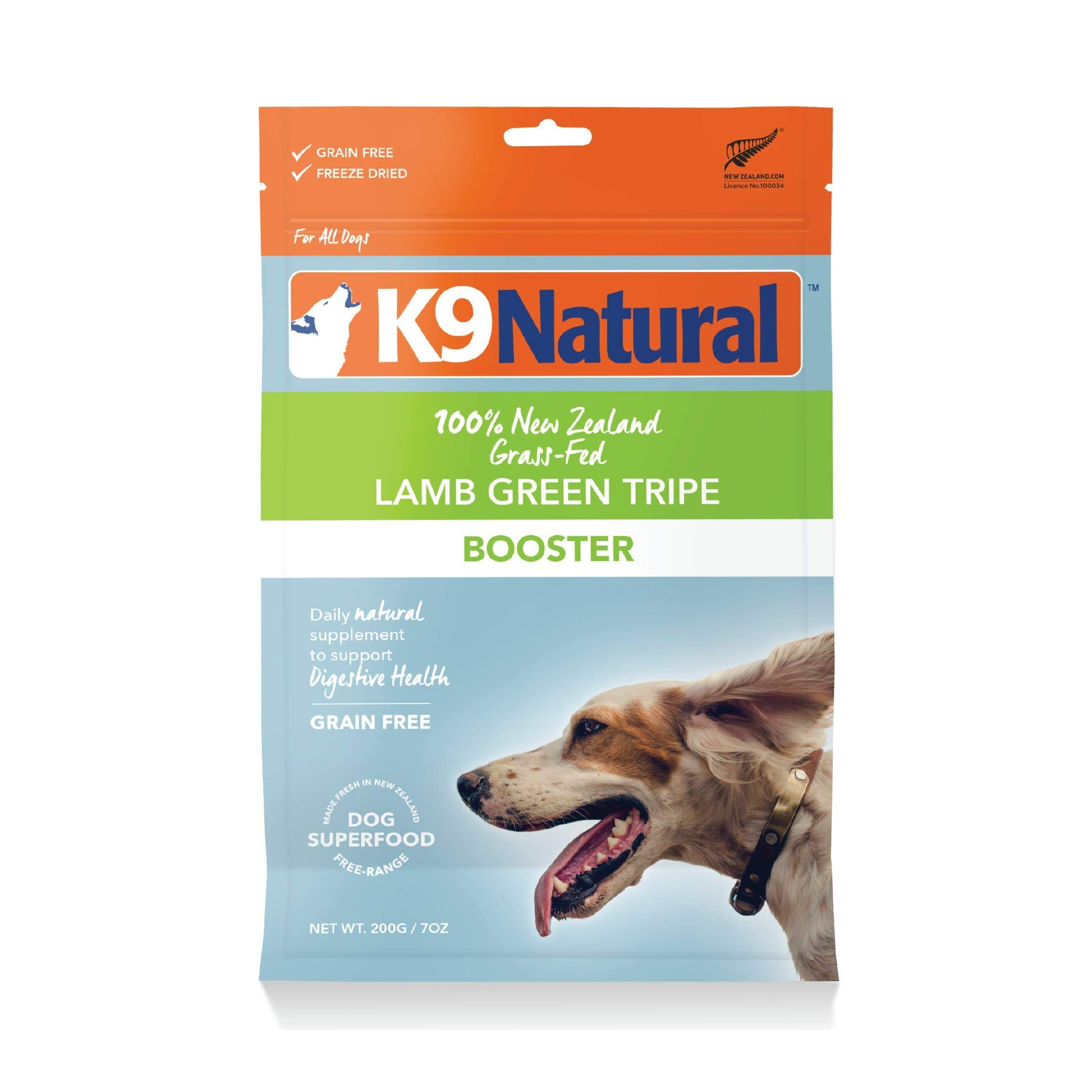 Freeze Dried Dog Food Booster By K9 Natural - Perfect Grain Free, Healthy, Hypoallergenic Limited Ingredients For All Dogs - Raw, Freeze Dried Mixer - 100% Green Tripe Nutrition For Dogs - 7Oz Pack by K9 Natural