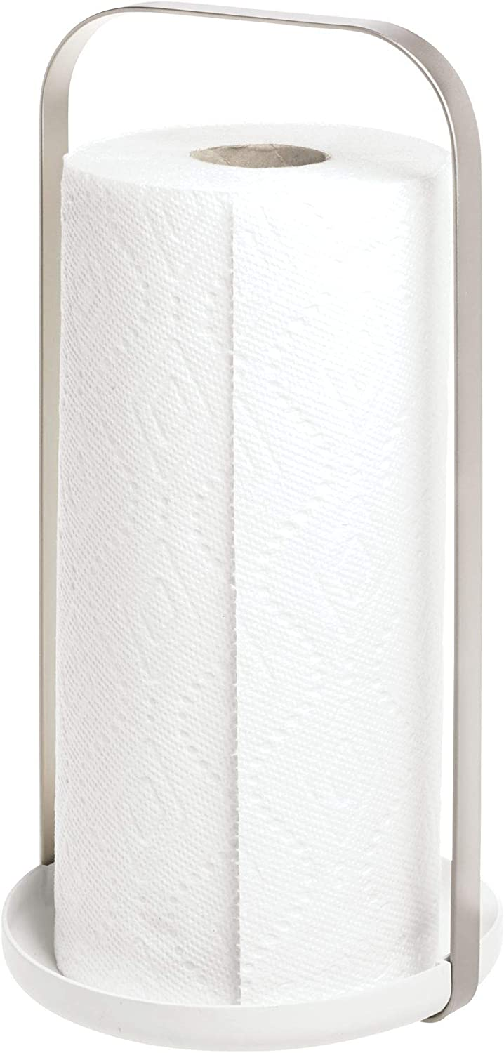 iDesign Austin Metal Free Standing Paper Towel Holder for Kitchen, Bathroom, Laundry Room Countertops