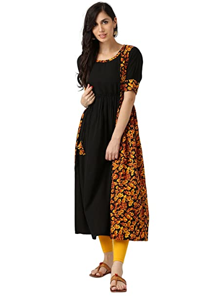 b5f57ca93 Libas Women s Anarkali Crepe Kurta  Amazon.in  Clothing   Accessories