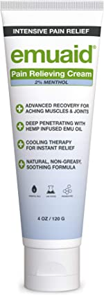EMUAID® Pain Relieving Cream 4oz - Relief for aching muscles, shoulder,