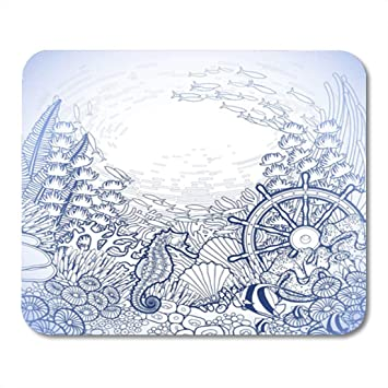 Coral Reef Sea Horse Rubber Mouse Mat PC Mouse Pad