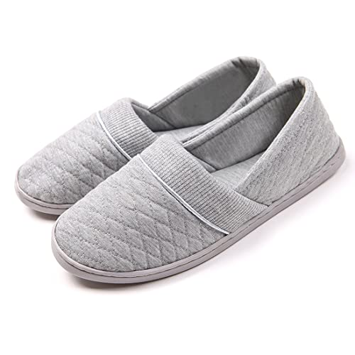 ChicNChic Women Comfort Cotton Soft Sole Indoor Slippers Anti-Slip House  Shoes (6 B