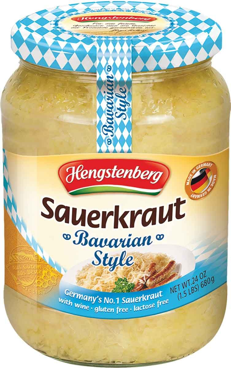 Hengstenberg Sauerkraut, Bavarian Style, 24 Ounce (Pack of 12) by Hengstenberg