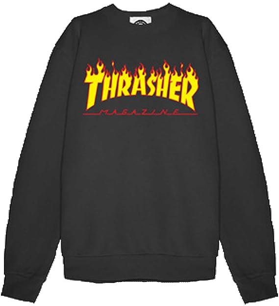 THRASHER - Sudadera - para Hombre Negro M