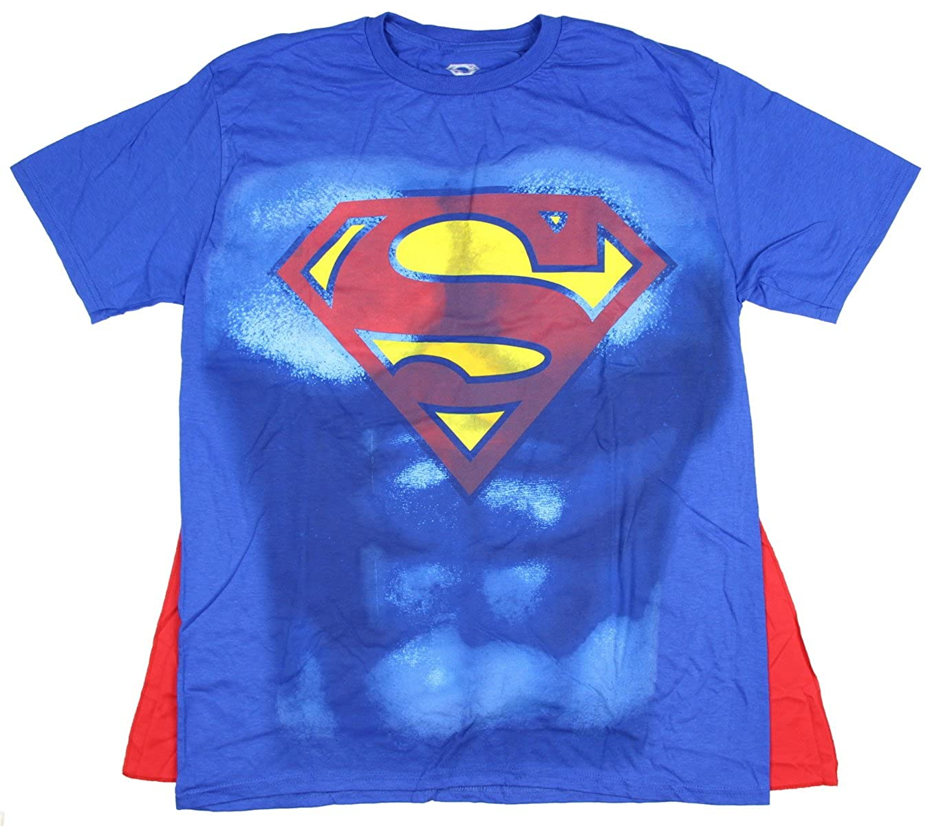bioworld DC Comics Superman Shield Mens Royal Cape Tee