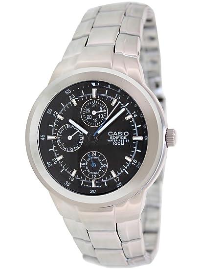 229b52e17dfc CASIO 19000 EF-305D-1AV - Reloj Caballero Cuarzo Correa Acero Inoxidable  dial Negro  Casio  Amazon.es  Relojes