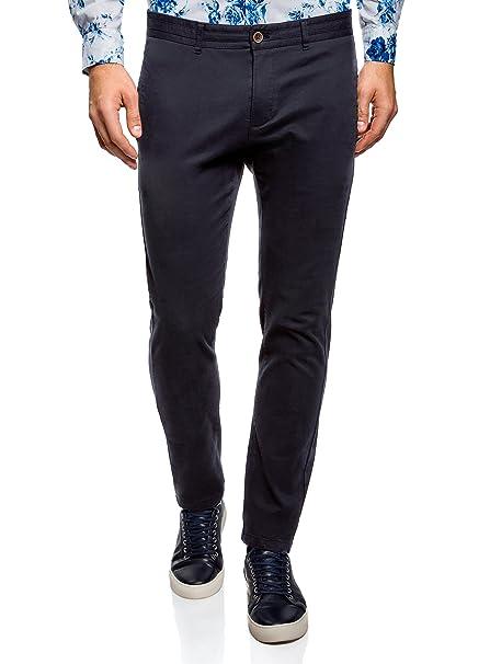 oodji Ultra Hombre Pantalones Chinos de Algodón: Amazon.es: Ropa y accesorios