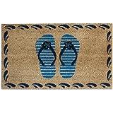 Flip Flops Bleach Printed Coir Door Mat