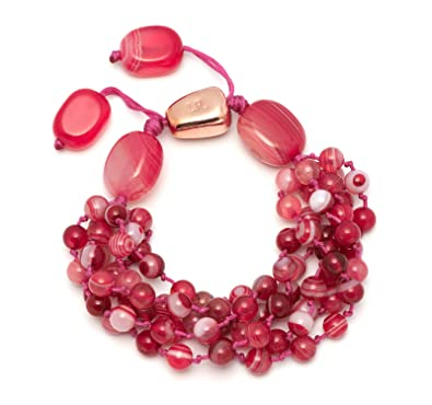 Lola Rose Women's Base Metal Bohemian Express Long Oval Pendant Scarlet Agate Necklace of Length 90 cm 3EUWb