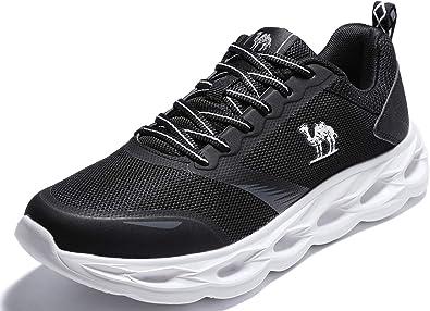 CAMEL CROWN Zapatillas de Running Entrenamiento para Hombre Entrenador Atletismo Correr en Asfalto Deporte de Moda Casual Luz Transpirable para Gimnasia Deportiva Jogging Formación Aptitud: Amazon.es: Zapatos y complementos
