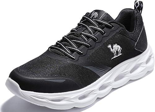 CAMEL CROWN Herren Sportschuhe Atmungsaktiv Gym Laufschuhe Leichtgewicht Turnschuhe Freizeit Outdoor Sneaker Fitnessschuhe Walkingschuhe