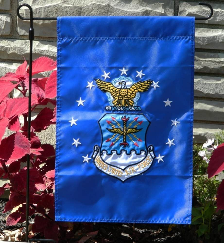 12x18 United States Air Force Garden Flag Nylon Embroidered USAF Military