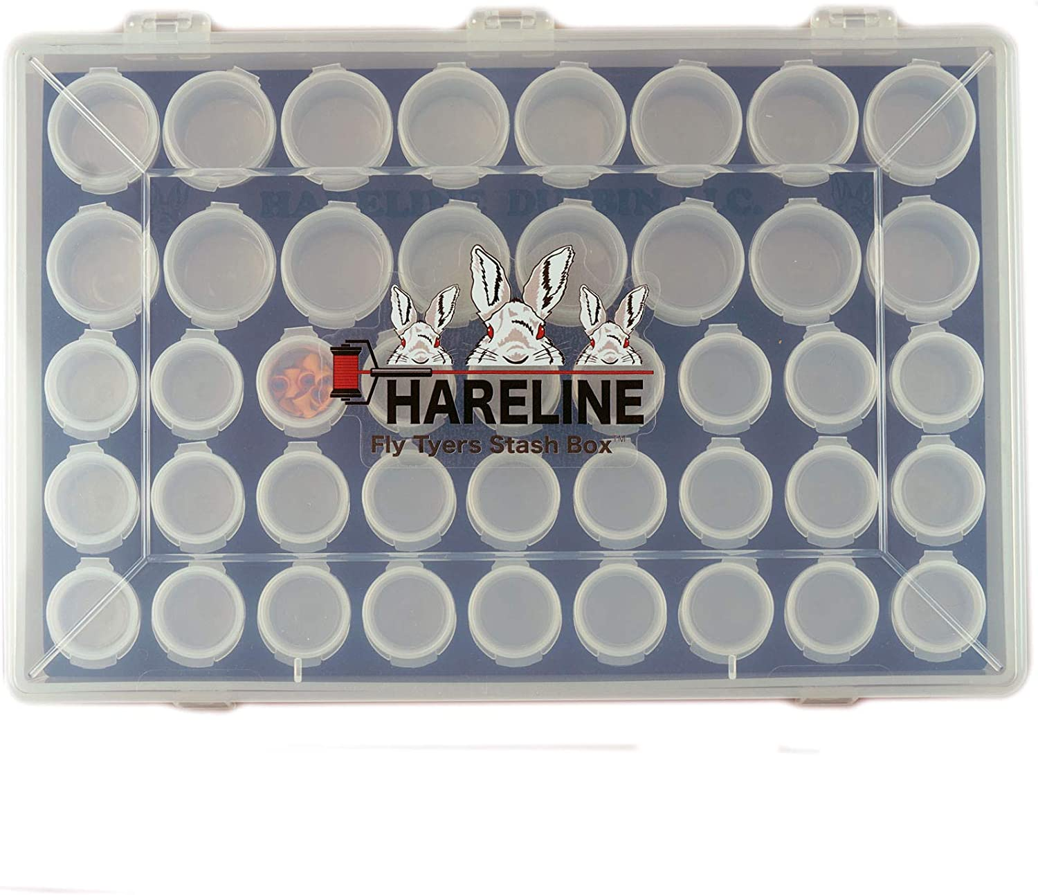 43 COMPARTMENTS. HOOK AND BEAD STORAGE CRAFTS HARELINE/'S FLY TYING STASH BOX
