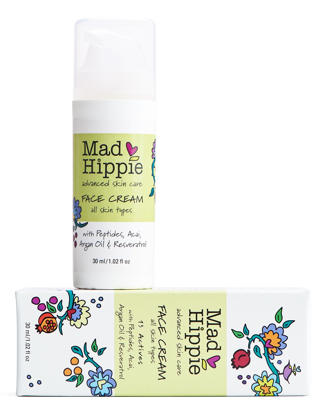 Mad Hippie Face Cream with Anti Wrinkle Peptide Complex 1.02 ounces